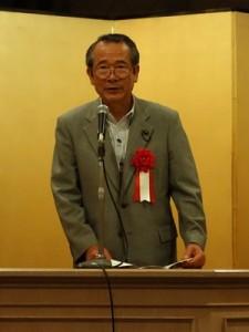 あいさつする来賓の酒井茂英県議会議員(当組合顧問)