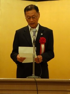 来賓の宮内常吉千葉県県土整備部災害・建設業担当部長